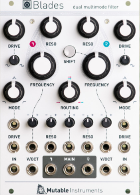 Mutable Instruments Blades, dual multimode filter